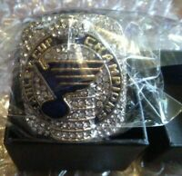 2019 OFFICIAL St.Louis Blues Championship Sz11 Replica Ring Stanley Cup O'Reilly