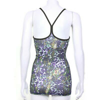 LULULEMON Power Y Tank Top Luon Floral Sport White Multi Gator Green - 2 -IN 056