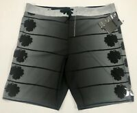 HURLEY MENS BOARD SHORTS PHANTOM STECYK SWIM TRUNK SWIMSUIT BLACK GREY 38 NEW