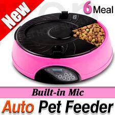 LCD AUTO Dog Cat Pet Feeder Dispenser Food Bowl Automatic Program Digital 6-Meal