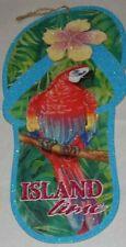 "Vintage Parrot Head ""Island time"" Flip Flop Sign"