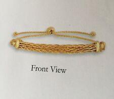 "14kt Yellow Gold 9.25"" Friendship bracelet with Adjustable slide clasp"