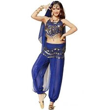 New Belly Dancer Costumes Sequins Bra Top & Pants Trousers Outfit Fancy Costumes