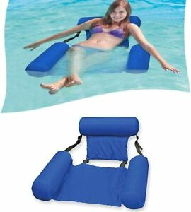 Swimming Pool Floating Bed Float Chair Inflatable Foldable Beach Raft Water Toy
