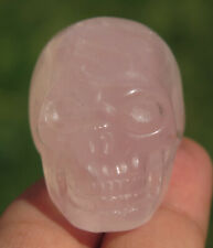 37mm Natural Rainbows PINK ROSE QUARTZ JASPER Skeleton, Crystal Healing SKULL