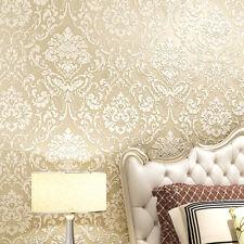 10m Non-woven Wallpaper European Hotel Living Room Bedroom 3D Stereo Embossment