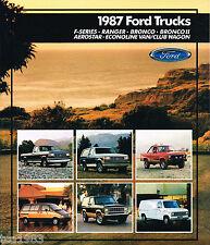 1987 Ford TRUCK Brochure : 4x4,F,150,350,Ranger,Bronco,Van,XLT,E-150,2,AEROSTAR,