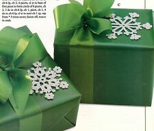 CHRISTMAS Snowflake Tie-Ons/Ornament/Decor/Crochet Pattern INSTRUCTIONS ONLY