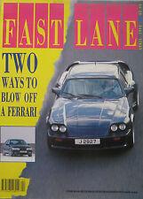 Fast Lane 04/1991 featuring Jaguar Lister LE Mans, Minker, Renault, Range Rover
