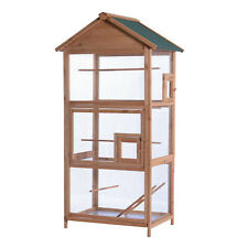 "Mcombo 70"" Outdoor Aviary Bird Cage Wood Vertical Play House 0011"
