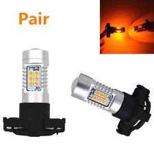 Pair New PY24W 12V Amber Yellow 21SMD LED Bulbs For BMW Front Turn Signal Light