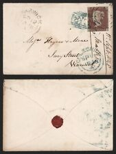 GB Victoria 1848 - Cover to Warwick F7