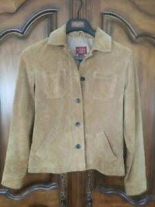 Eddie Bauer ~ Seattle Suede ~ Western Style Shirt Jacket ~ Unlined ~ Pearl Snaps ~ Mint ~ Recycled ~ Vintage ~ Women/'s size