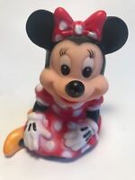 """Mouse Disney Mickey Vintage Walt Figurine Figure Toy Rare Rubber 4"""" Squeeze Gift"""