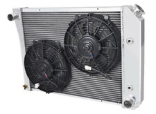 """4 Row Discount Radiator 20"""" Core W/ 2 10"""" Fans for 1971-1973 Chevy Bel Air"""