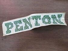 Vintage Penton Motorcycle Green & White Sticker Scrapbooking Art Piece AHRMA #2