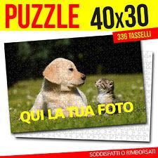 PUZZLE CON FOTO 40x30 PERSONALIZZABILE FOTO PUZZLE 336 TASSELLI PERSONALIZZATO
