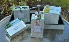 New Bella Lux Rare 5pc Mirror & Rhinestones Crystal Diamond Bath Bathroom Set