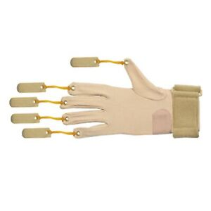 CanDo Deluxe with Thumb Finger Flexion Glove, L/XL Right