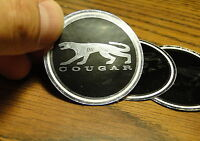 67 68 68 70 Cougar Shelby 10 Spoke Center Cap Emblems (set of 4) free shipping