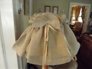 NEW Soft Surroundings FLAX Linen Lampshade Cover #65341 Shabby Fr Cottage NIP