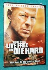 DIE HARD 4: LIVE FREE OR DIE HARD (DVD, 2007, Full Frame LIKE NEW ONLY USED ONCE
