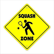 Squash Crossing Decal Zone Xing sport game team gag player play sport racket