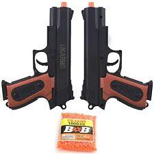 2 x UKARMS SPRING AIRSOFT PISTOL HAND GUN AIR w/ 1000 BB BBs