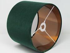 Dark Forest Green Velvet Copper Gold Silver Metallic Lampshade Light Shade