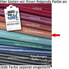 Hamburger Liebe Knit Knit Maxistripes gelb cremeweiß; Bio Jacquard Jersey Ringel