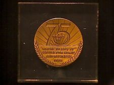 """A Neat 75 Years of the Yellow Pages """"Bronze Medal"""" in Lucite New York"""