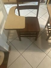 New listing vintage wooden school desk