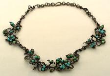 Crisopraso Oxidized Silver Necklace Bottega Veneta Aquamarine Turquoise