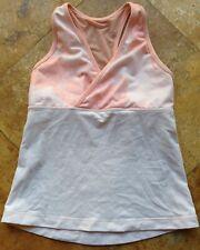 Lululemon Racerback V Neck Sleeveless Bralet Top, Pink, S