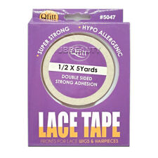 Qfitt Lace Tape for Wigs & Hairpieces 1/2 x 5 Yards Double Sided Strong Adhesive