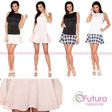 Boat Neck Party Short/Mini Sleeveless Dresses for Women