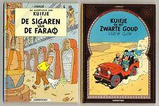 Hergé Tintin Formats 17x22,5cm Kuifje en het Zwarte Goud+De sigaren van de Farao