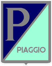 "#867 (1) 3.5"" Piaggio Logo Decal Scooter Stickers LAMINATED"
