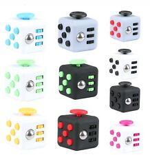 6-side FIDGET CUBE Toy Stress Anxiety Relief Attention Focus Figet Cube FAST S/H