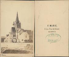 F.Marie, France, Laval, Église d'Avesnières Vintage CDV albumen carte de vi