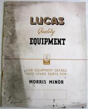 Lucas MORRIS MINOR 1949 CE 458 Electrics Equipment & Spare Parts