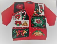 UGLY CHRISTMAS SWEATER Candy Cane Bells Wreath Stocking Wreath and So Much More