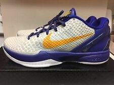 Nike Zoom Kobe 6 VI Basketball Shoes (429659-104) Sz 10.5 White/Del Sol Prelude