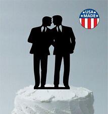Gay Man Wedding Cake Topper Same Sex LGBTQ Homosexual Wedding Gay Men Silhouette