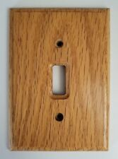 Wood Single Toggle Wall Plate Jumbo Size Single Gang Light Switch #734