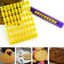 Alphabet Letter Number Biscuit Cookie Tools Press Stamp Embosser Cake Decor Moul