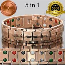 PURE TITANIUM 40X 5 IN 1 BIO MAGNETIC BRACELET MEN ROSE GOLD T03RG