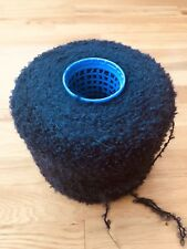 1000g Cone 78% Mohair Loop Knitting Yarn In Navy Blue. Dk Weight.