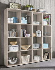 Wilmes: Raumteiler mit 16 Fächer - Bücherregal Standregal Regal - Eiche Sägerau