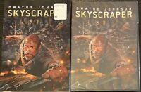 Skyscraper (DVD, 2018) With Slipcover Dwayne Johnson NEW Sealed